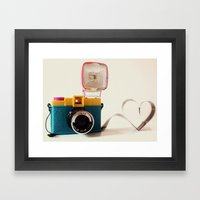 Lomo Love Framed Art Print