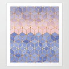 Rose Quartz & Serenity C… Art Print