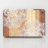 White Doodles On Blonde … iPad Case