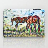 Abstract Horses In Paddo… iPad Case