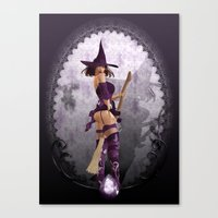 Does my bum look big on this broom ;) Canvas Print