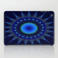 Blue Kaleidoscope Fracta… iPad Case