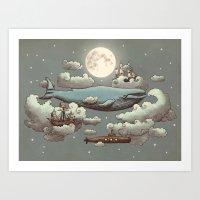 Ocean Meets Sky Art Print