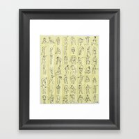 Naked ladies Framed Art Print