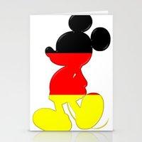 German Mickey Maus Stationery Cards