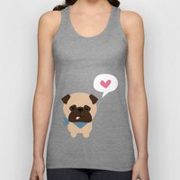 Pancho the Pug Unisex Tank Top