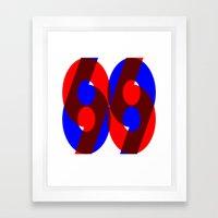 69 Framed Art Print