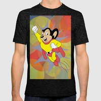 Mighty Mouse - Circles Mens Fitted Tee Tri-Black SMALL