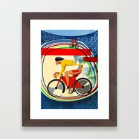 Track Cycling Championship Poster Cycle Bike Framed Art Print