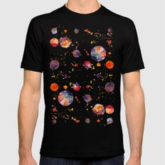 watercolor bubbles Mens Fitted Tee Black SMALL