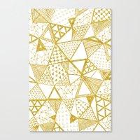 Golden Doodle triangles Canvas Print