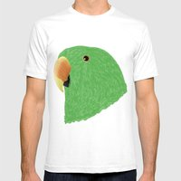 Amazon Eclectus [Male] Mens Fitted Tee White SMALL