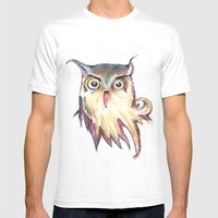 Hibou Mens Fitted Tee White SMALL