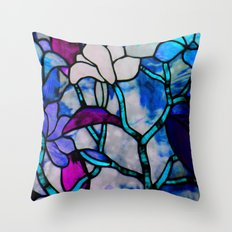 Painted Glass Throw Pillow