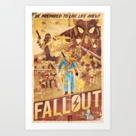 FALLOUT FAN ART Art Print