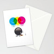 CMY makes K dizzy Stationery Cards