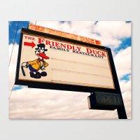 The Friendly Duck Restaurant Canvas Print