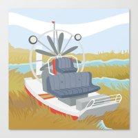 AIRBOAT (AQUATIC VEHICLE… Canvas Print