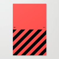 Infrared Lines / Black Canvas Print