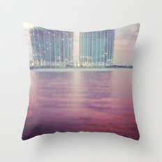 Hotels on the water Throw Pillow