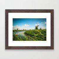 The Wind Mills Of The Ne… Framed Art Print