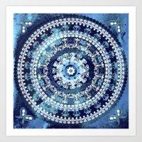Marina Blue Mandala Art Print