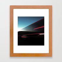 Lights Cutting Through T… Framed Art Print