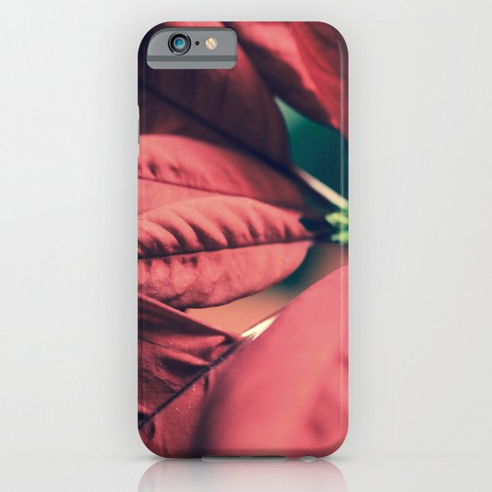 Poinsettia Red iPhone & iPod Case