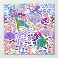 Rush Hour At The Reef - … Canvas Print