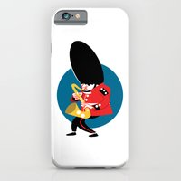 Soldier playing the saxophone iPhone 6 Slim Case