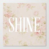 Shine Floral  Canvas Print