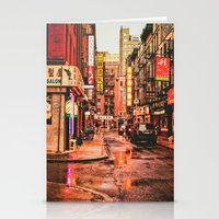 New York City Rain In Ch… Stationery Cards