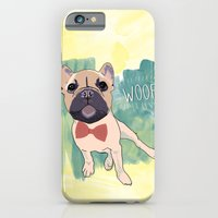 iPhone & iPod Case featuring Frenchie Art. Bruno. by Villaraco