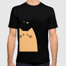 Meow part 2 Mens Fitted Tee Black SMALL