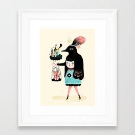 Framed Art Print - Lady Bird - Muxxi