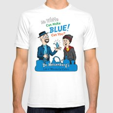 Mr. White Can Make Blue! Mens Fitted Tee White SMALL