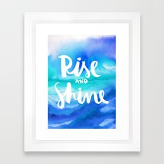 Rise And Shine - Collaboration by Jacqueline Maldonado and Galaxy Eyes Framed Art Print