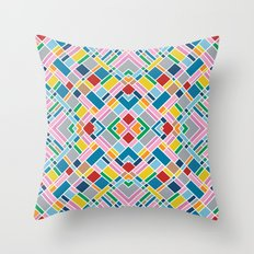Map Outline 45 Repeat Throw Pillow
