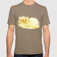 The Golden Lotus Mens Fitted Tee Tri-Coffee SMALL