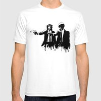 Divine Monkey Intervention Mens Fitted Tee White SMALL