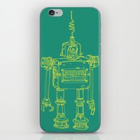 Yellow Robot iPhone & iPod Skin