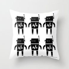 ROBOT Number Two Throw Pillow