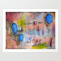Soar Abstract Balloon Pa… Art Print