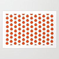 Red Appels Art Print