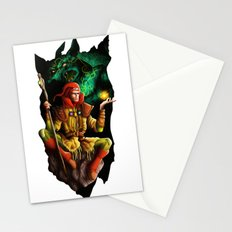 A wizard in the dark Stationery Cards