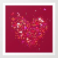 Heart2 Red Art Print