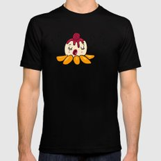 Peach Melba SMALL Black Mens Fitted Tee
