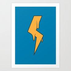 Greased Lightning Art Print