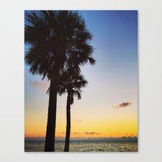 Palms at Sunset Canvas Print