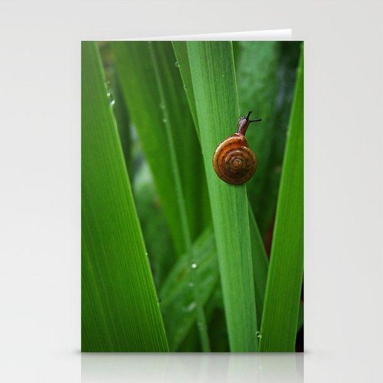 Daring Snail Stationery Card
